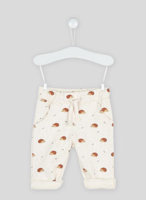 Vêtements Bout'Chou Jogging imprimé en coton BIO Beige vue détail/paire