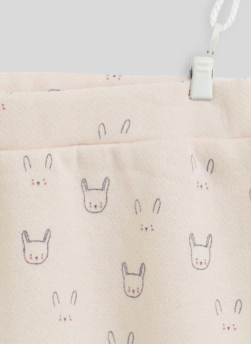 Vêtements Bout'Chou Sarouel molleton imprimé contenant du coton BIO Rose vue face