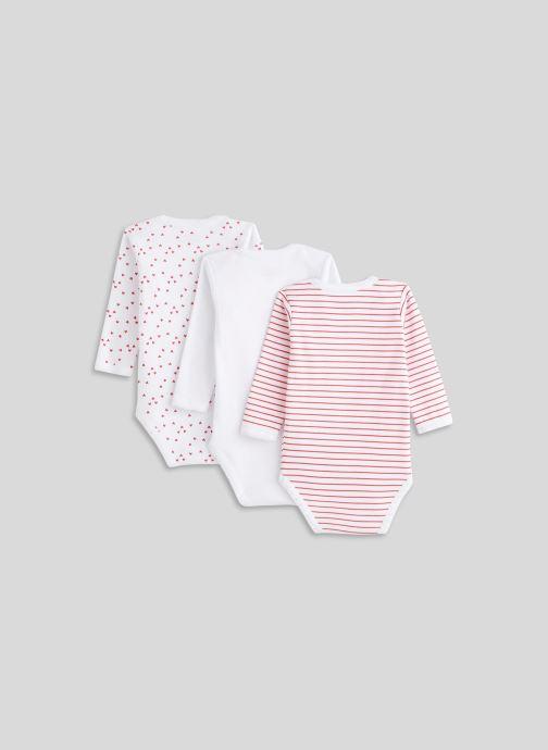 Vêtements Bout'Chou Lot de 3 bodies manches longues imprimés Blanc vue portées chaussures