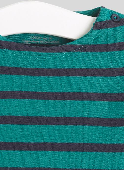 Vêtements Bout'Chou Marinière en coton BIO Vert vue face
