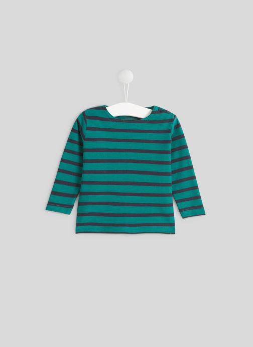 Vêtements Bout'Chou Marinière en coton BIO Vert vue détail/paire
