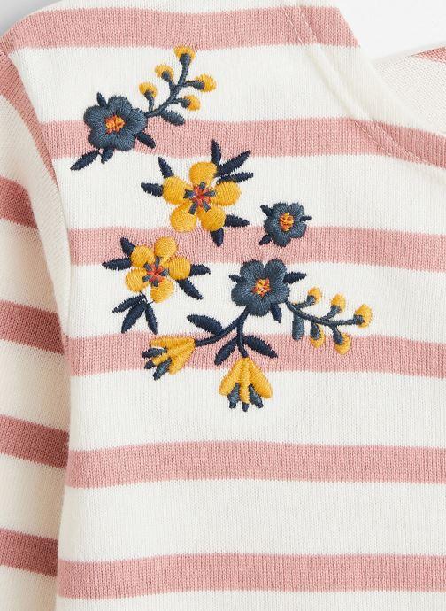 Vêtements Bout'Chou Marinière brodée en coton BIO Rose vue face