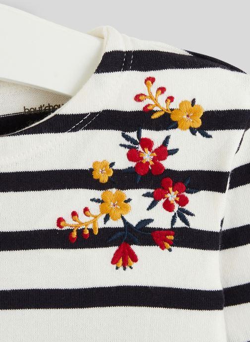 Vêtements Bout'Chou Marinière brodée en coton BIO Bleu vue face