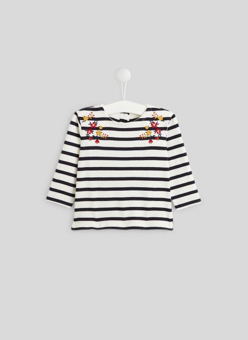 T-shirt manches longues - Marinière brodée