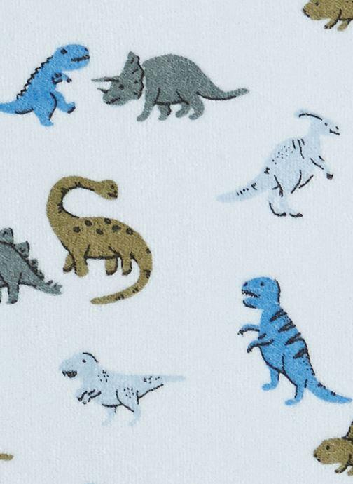 Vêtements Bout'Chou Lot de 2 pyjamas imprimés en velours contenant du coton BIO Bleu vue face