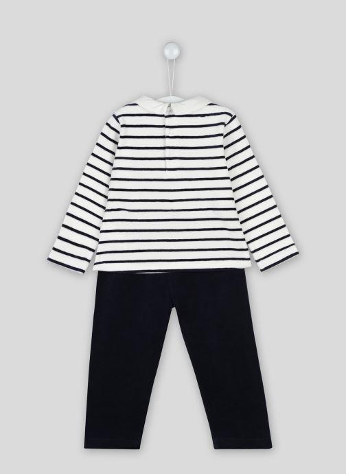 Vêtements Bout'Chou Pyjama imprimé contenant du coton BIO Beige vue portées chaussures