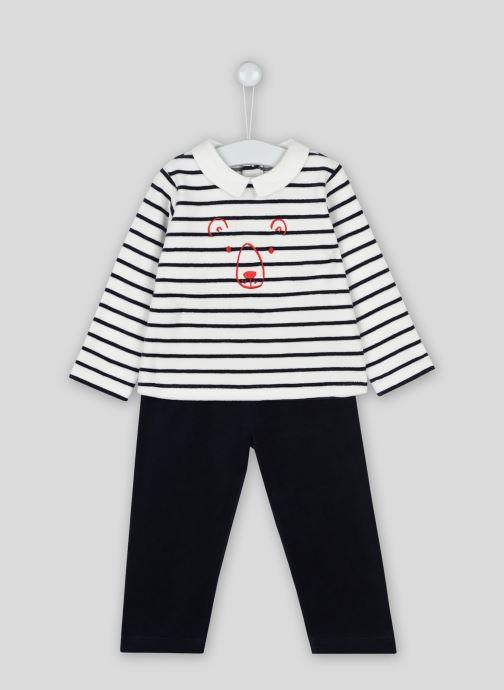 Vêtements Bout'Chou Pyjama imprimé contenant du coton BIO Beige vue détail/paire