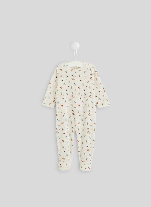Vêtements Bout'Chou Dors-bien imprimé en velours Beige vue détail/paire