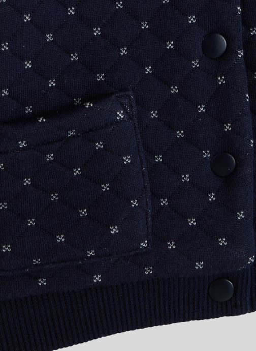 Vêtements Bout'Chou Cardigan molleton en coton BIO Bleu vue face