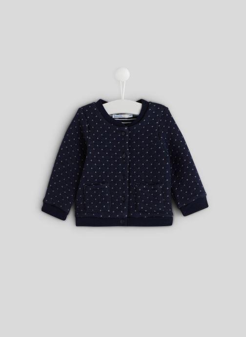 Vêtements Bout'Chou Cardigan molleton en coton BIO Bleu vue détail/paire