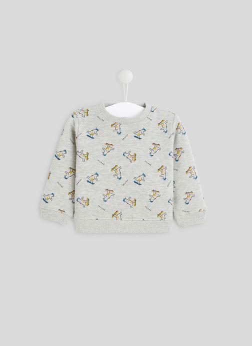 Vêtements Bout'Chou Sweat molleton imprimé en coton BIO Gris vue détail/paire