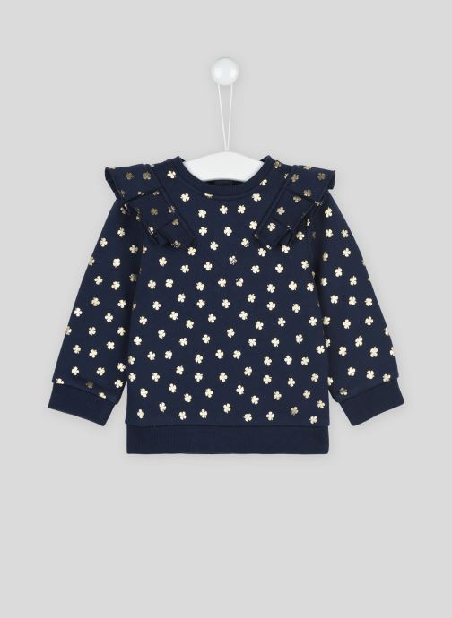 Vêtements Bout'Chou Sweat à volants imprimé Bleu vue détail/paire