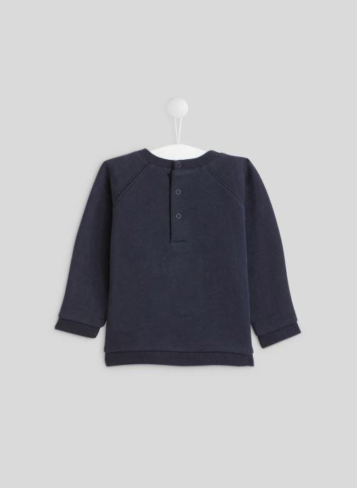 Vêtements Bout'Chou Sweat en tricot Bleu vue portées chaussures