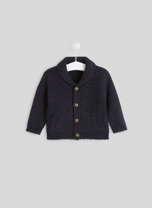 Kleding Bout'Chou Cardigan tricot col châle Blauw detail