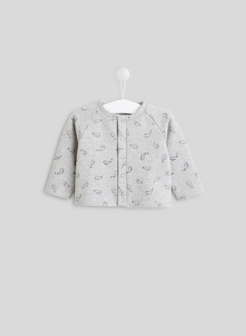 Vêtements Bout'Chou Cardigan imprimé en molleton Gris vue détail/paire