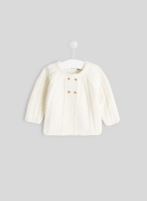 Vêtements Bout'Chou Cardigan torsades Beige vue détail/paire