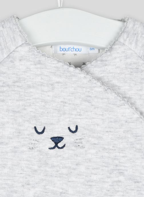 Vêtements Bout'Chou Combinaison avec broderie Gris vue face
