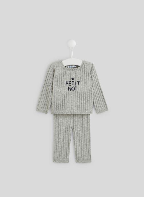 Vêtements Bout'Chou Ensemble en tricot Gris vue détail/paire