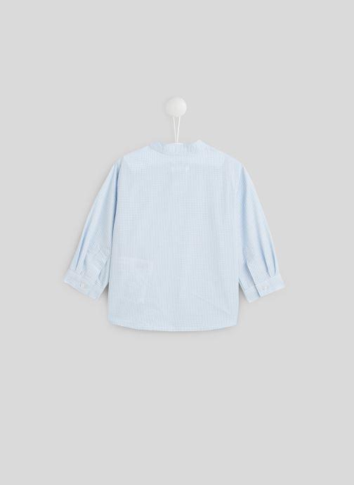 Vêtements Bout'Chou Chemise col Mao Bleu vue portées chaussures
