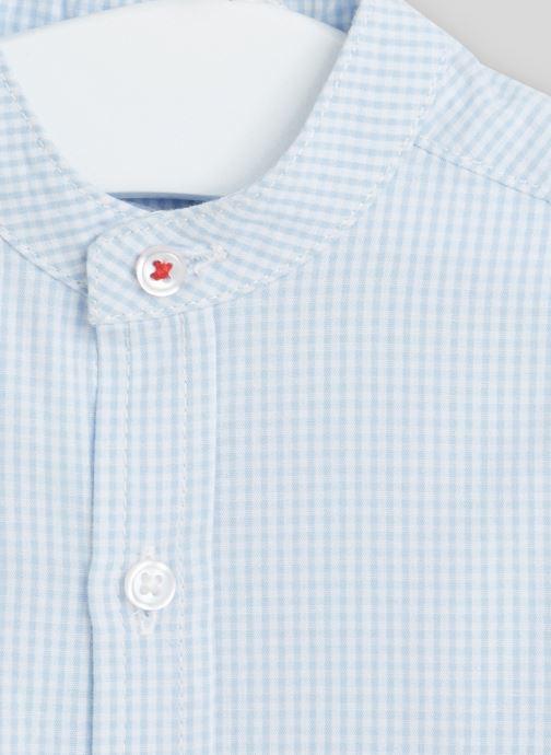 Vêtements Bout'Chou Chemise col Mao Bleu vue face