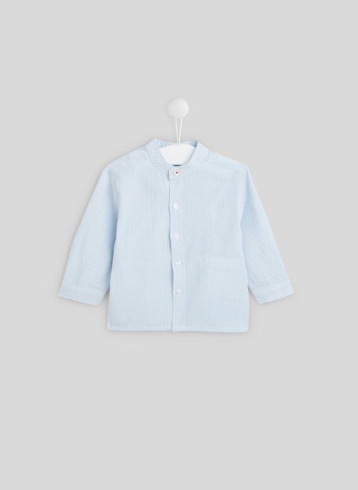 Vêtements Bout'Chou Chemise col Mao Bleu vue détail/paire