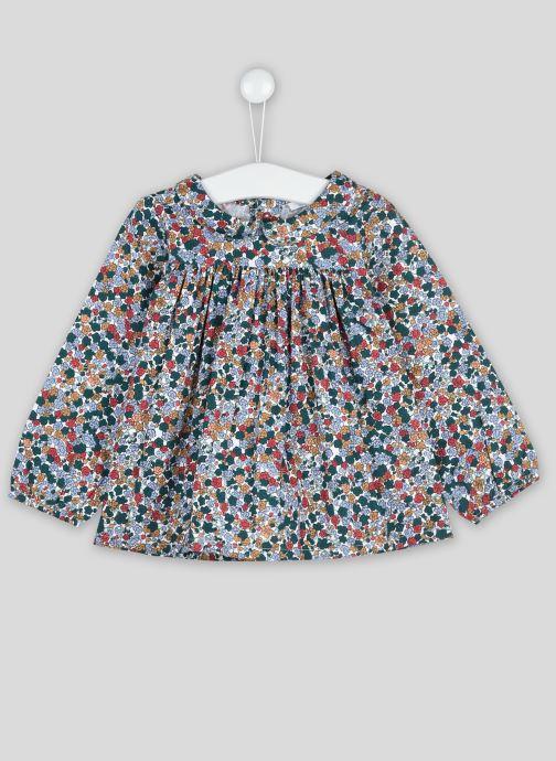 Vêtements Bout'Chou Blouse imprimé fleurs Vert vue détail/paire