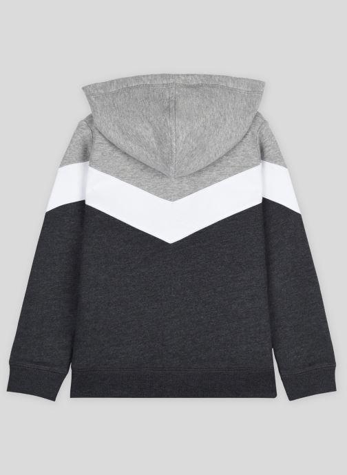 Vêtements Monoprix Kids Sweat zippé à capuche en coton BIO Gris vue portées chaussures