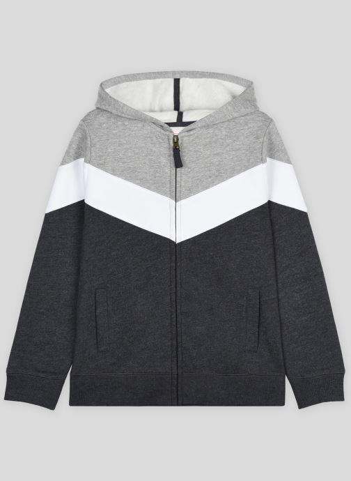 Vêtements Monoprix Kids Sweat zippé à capuche en coton BIO Gris vue détail/paire