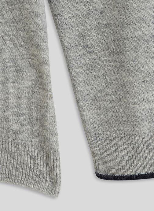 Vêtements Monoprix Kids Pull col V en laine et cachemire Gris vue face
