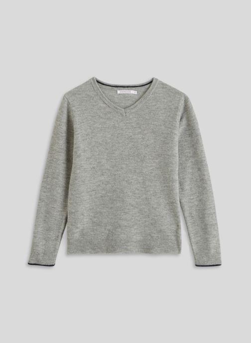 Vêtements Monoprix Kids Pull col V en laine et cachemire Gris vue détail/paire