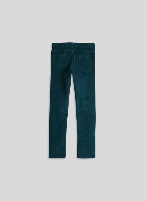 Vêtements Monoprix Kids Pantalon en velours Bleu vue portées chaussures