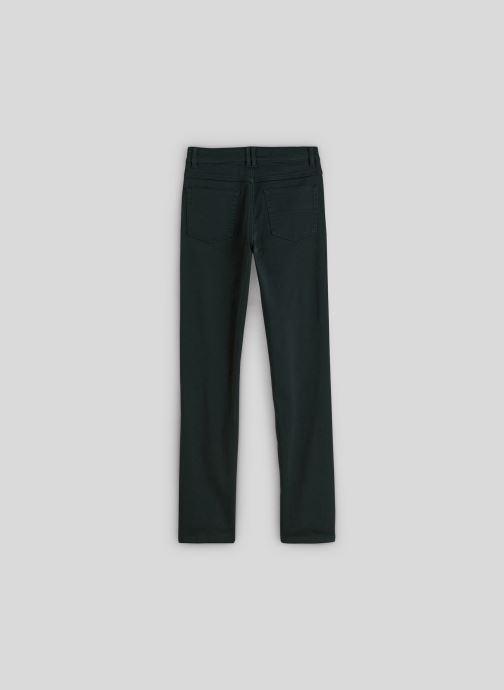 Vêtements Monoprix Kids Pantalon slim maille en coton BIO Vert vue portées chaussures