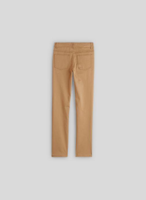Vêtements Monoprix Kids Pantalon slim maille en coton BIO Beige vue portées chaussures