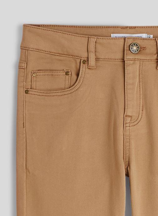 Vêtements Monoprix Kids Pantalon slim maille en coton BIO Beige vue face