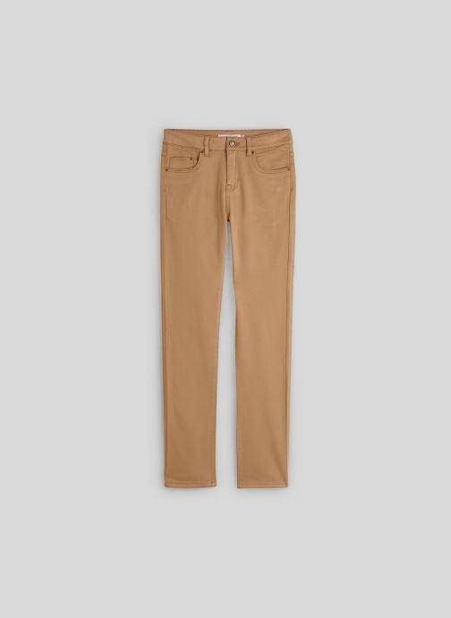 Vêtements Monoprix Kids Pantalon slim maille en coton BIO Beige vue détail/paire