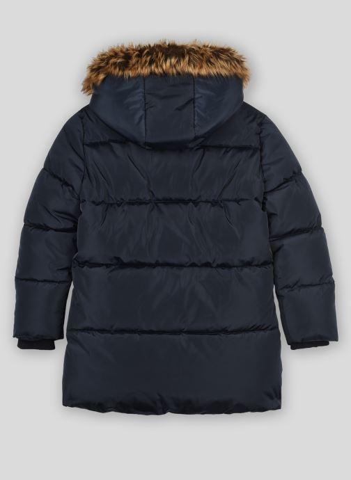 Vêtements Monoprix Kids Doudoune chaude fausse fourrure Bleu vue portées chaussures