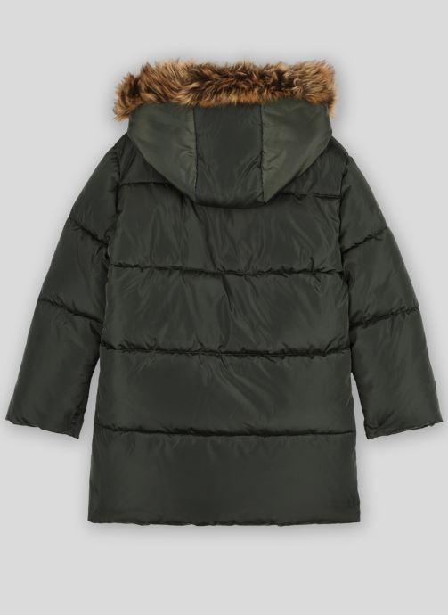 Vêtements Monoprix Kids Doudoune chaude fausse fourrure Vert vue portées chaussures