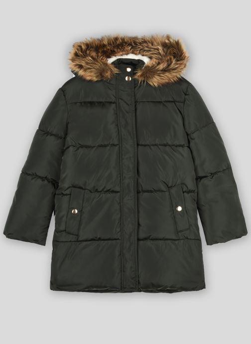 Vêtements Monoprix Kids Doudoune chaude fausse fourrure Vert vue détail/paire