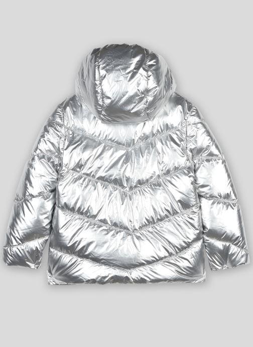 Vêtements Monoprix Kids Doudoune à capuche argentée Gris vue portées chaussures