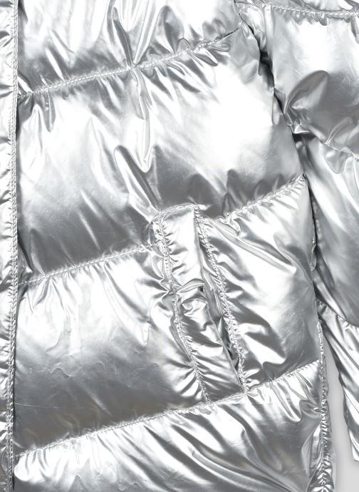 Vêtements Monoprix Kids Doudoune à capuche argentée Gris vue face