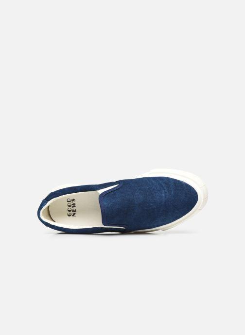 Sneaker Good News Yess blau ansicht von links
