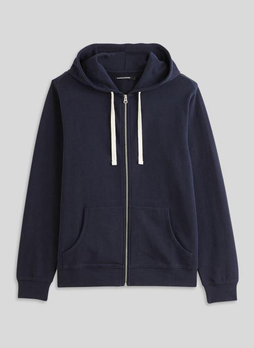 Vêtements Monoprix Homme Sweat à capuche en coton BIO Bleu vue face