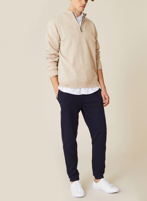 Vêtements Monoprix Homme Jogging en coton BIO Bleu vue détail/paire