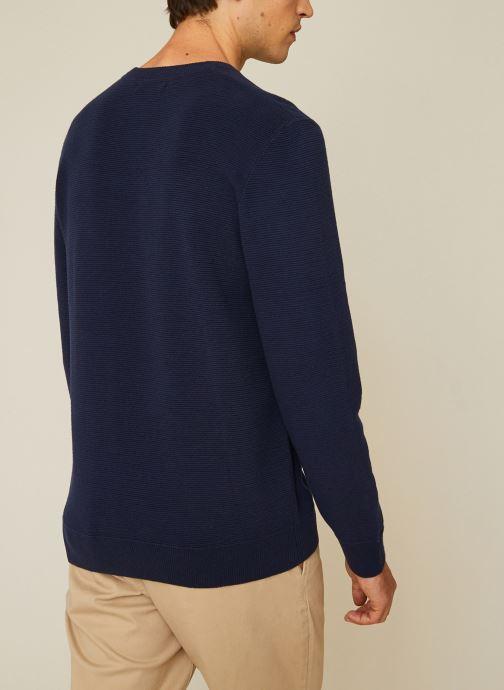 Vêtements Monoprix Homme Pull contenant du coton BIO Bleu vue portées chaussures