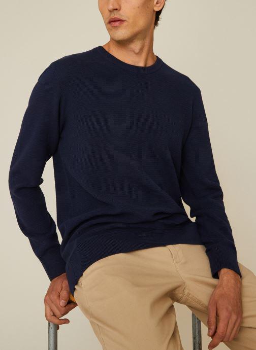 Vêtements Monoprix Homme Pull contenant du coton BIO Bleu vue détail/paire