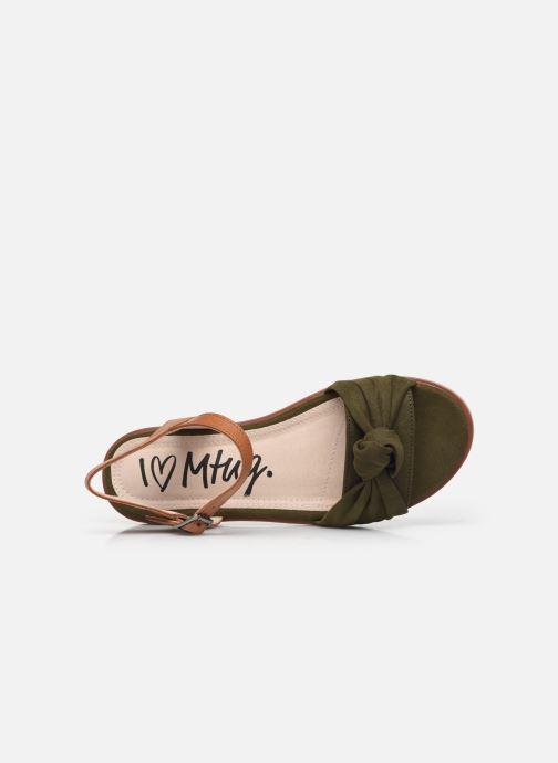 Sandali e scarpe aperte MTNG 50506 Verde immagine sinistra