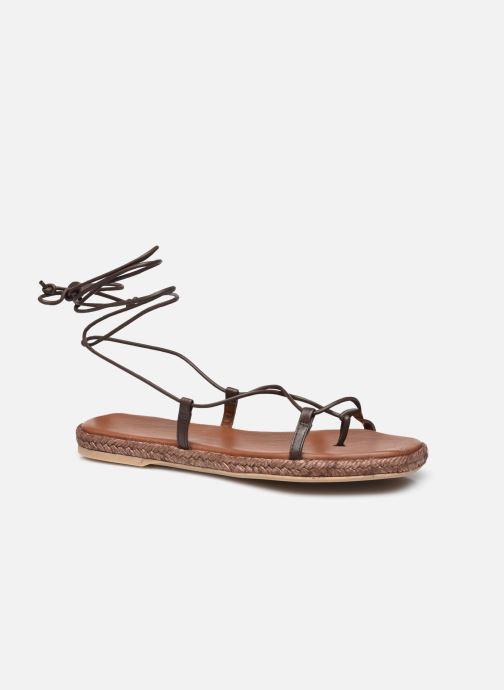 Sandalen Alohas Sandals Tribe Bruin detail