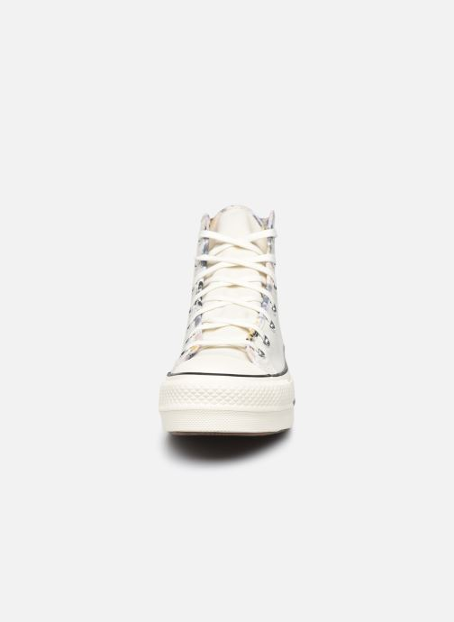 Baskets Converse Chuck Taylor All Star Lift Hi W Beige vue portées chaussures