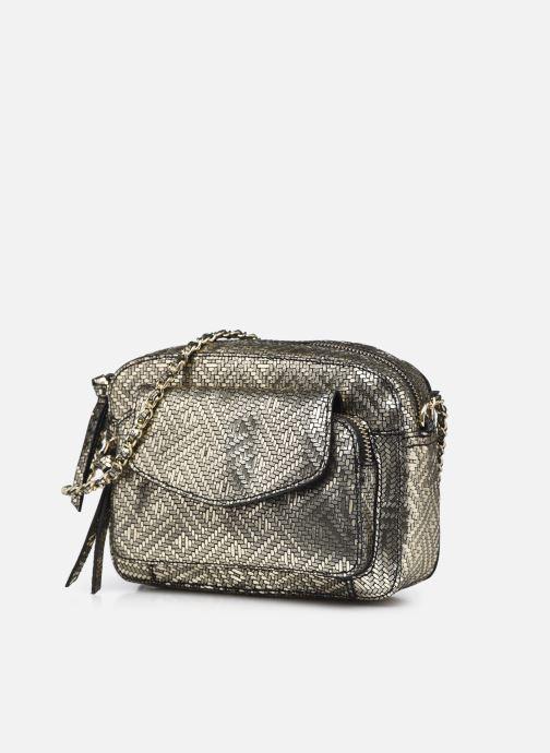 Handtaschen Pieces DAINO LEATHER CROSS BODY FC gold/bronze schuhe getragen