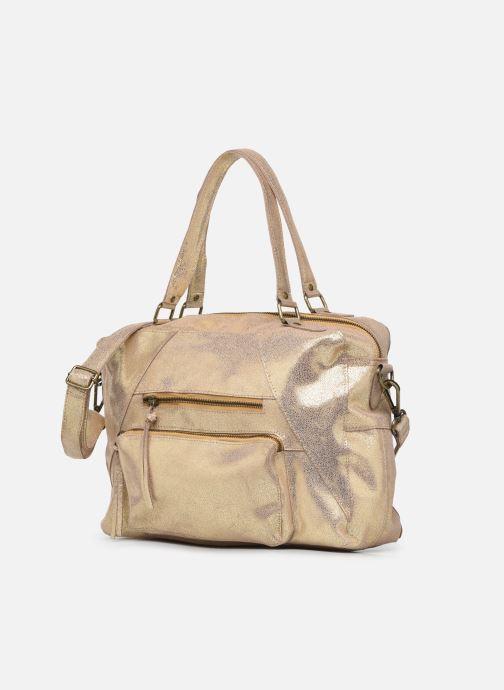 Handtaschen Pieces ANDREA LEATHER DAILY BAG FC gold/bronze schuhe getragen